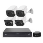 COTIER 4-CH NVR Kit 1NVR+4 IP Camera Waterproof NVR System - White