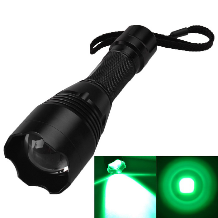 RichFire SF-360G XP-E R3 300lm 3-Mode Green Memory Zooming Flashlight