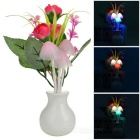 Rose Style Light Control Warm White 3-LED Night Light - Multicolored