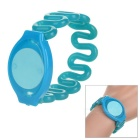 Access Control Spring Wristband Bracelet - Blue + Fluorescence Green