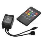 JRLED 20-Key Infrarouge IR Music 2.0 LED Controller pour 5050/3538/3014 RGB Light Strip (DC 12 ~ 24V)