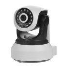 "1/4"" CMOS 300KP P2P IP Camera w/ 12-IR-LED / Wi-Fi / TF - White + Black (US Plug)"