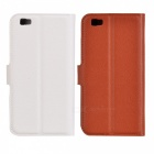 PU Case w/ Stand, Card Slots for Huawei P8 Lite - Brown + White (2PCS)