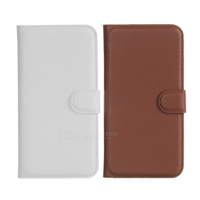 PU Cases w/ Card Slots for Huawei Ascend G7 - Brown + White (2PCS)