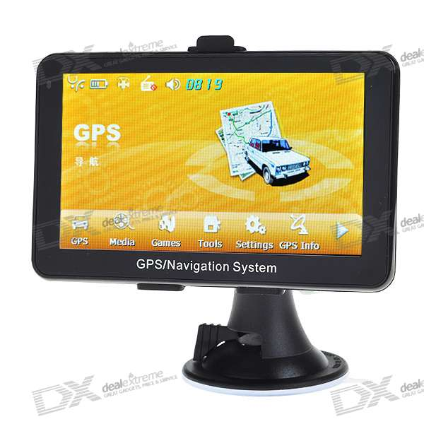5 LCD Windows CE 5.0 Core GPS Navigator w/FM Transmitter + Internal 4GB Memory USA Canada Maps junsun 7 inch hd car gps navigation with fm bluetooth avin multi languages europe sat nav truck car gps navigator with free maps