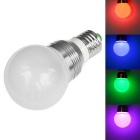 JIAWEN E27 3W LED Globe Bulb Colorful Light 200lm w/ Remote Control - Silver + White (AC 85~265V)