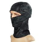 Outdoor Sun-Blocking Windproof Nylon Full Face Mask Headwear for War Game - Black Camouflage