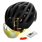 Basecamp Outdoor Bike Cycling Safety Helmet w/ Goggles - Black