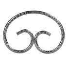 Outdoor Creative Head Hoop Design Manganese Steel Keyring Keychain - Grey Black
