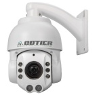 COTIER DM/G32 1.3MP HD 960P 18X Zoom High Speed PTZ IP Camera w/ 8-IR-LED - White (EU Plug)