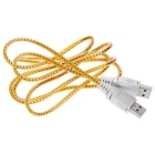USB 2.0 Male to Male Flat Extension Cable Extended Line - Golden