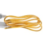 USB 2.0 Male to Female Flat Extension Cable Wire - Golden (140cm)