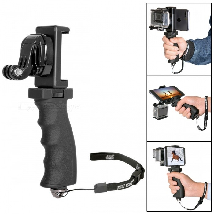 Fat Cat Hand Grip Stabilizer w/ Phone Clamp for GoPro Hero 4 3+ 3 2