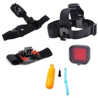 5-in-1 Sports Camera Accessories Kit for GoPro Hero 4 / 3 / 3+ / SJ4000 / SJ5000 / SJCam - Black