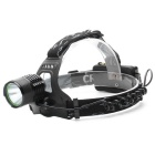 ZHISHUNJIA 8089-T6 XM-L T6 LED 900lm 3-Mode White Headlamp Headlight - Black + Green (2 x 18650)