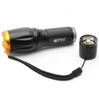 ZHISHUNJIA 103-T6 LED 900lm 5-Mode Zooming Flashlight - Black + Golden