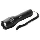 ZHISHUNJIA 103C-T6 LED 900lm 5-Mode White Zooming Flashlight - Black (1 x 18650 / 3 x AAA)