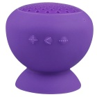 Portable Suction Cup Mount Handsfree Bluetooth V4.0 Mini Speaker - Purple