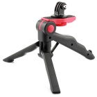2-in-1 Portable Hand Grip Selfie Tripod w/ Holder for GoPro Hero 2 / 3 / 3+ - Red + Black