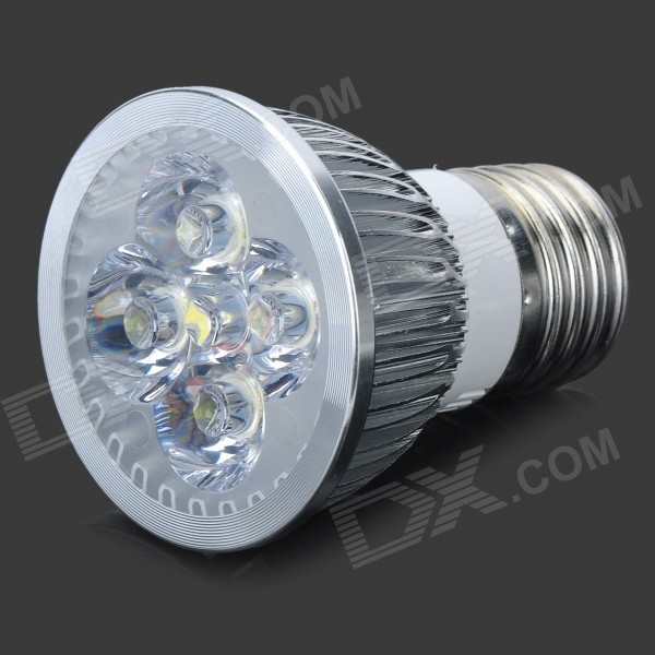 E27 4*1W 4-LED 360-Lumen 6300K Light Bulb - White (110~220V)