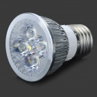 E27 4*1W 360-Lumen 6300K Cool White Light 4-LED Cup Bulb (110~220V)