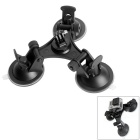 Super Tri-Cup Suction Mount for GoPro Hero / SJ5000 / 4000 / Xiaoyi / DSLR Cameras - Black
