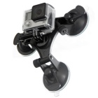 Tri-Cup Suction Mount for GoPro Hero SJ5000 4000 Xiaoyi DSLR - Black
