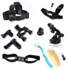 13-in-1 Sports Camera Accessories Kit for GoPro Hero 4/3/3+, SJ4000, SJ5000, SJCam, Xiaoyi - Black