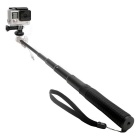 Aluminum Alloy Wired Control Selfie Monopod for GoPro, Phone - Black