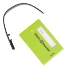 Blocklite SW8039 PC Travel Luggage Tag w/ ID Information - Green