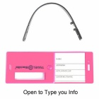 Blocklite SW8039 PC Travel Luggage Tag w/ ID Information - Deep Pink