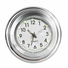 Motorcycle Handlebar Mounted Aluminum Alloy Clock - Silver