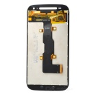 Tempered Glass + PVC Touch Screen Assembly for Motorola XT1524 - Black
