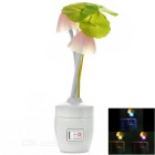 Mushroom Style 0.5W Warm White 3-LED Night Light - Multicolored