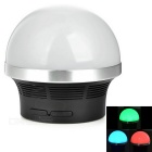 MushroomStyleMiniBluetoothV2.1Speakerw/RGBLED/MicroUSB/TF/3.5 mm-Black+White