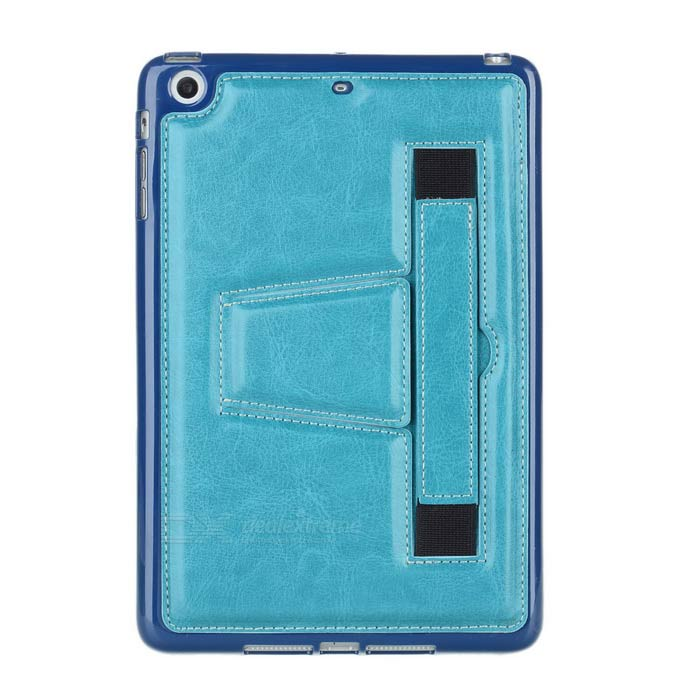 Retro Handheld Protective TPU Back Case w/ Stand for IPAD MINI - Blue