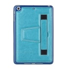Retro Handheld Protective TPU Back Case w/ Hand Strap / Stand for IPAD MINI - Blue