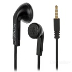 Fashionable 3.5mm 2-CH In-Ear Wired Music Earphones w/ Mic. / Remote - Black  (120cm-Cable)