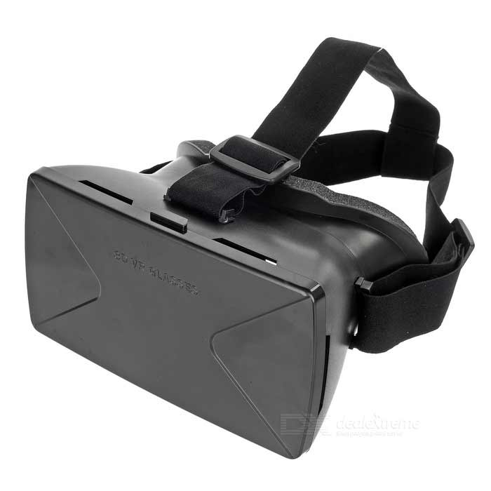 "Headband Virtual Reality 3D Glasses w/ Magnetic Sensor�?NFC Tag for 4~6.5"" Smartphones - Black"