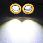 "MZ Wired 10W 2.5"" White + Yellow LED Eagle Eyes Car Headlight (2PCS)"