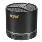 W-king W6 Portable Wireless Bluetooth V2.1 Metal Speaker w/ TF, Hand-fre, Call Answer - Black