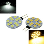 G4 3W LED Modules Cool White / Warm White 7000K / 3500K 300lm 12-SMD 5050 (12V / 2PCS)