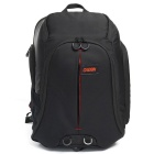 CADEN K8 Water Resistant Nylon Double Shoulders Camera Bag Backpack w/ Rain Cover - Black + Red