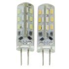 G4 2W LED Corn Lamps Cold White / Warm White 300lm 24-SMD (12V / 2PCS)