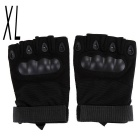 Outdoor Sports Cycling Hunting Military Tactical Anti-Slip Half-Finger Gloves - Black (XL / Pair)