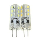 G4 1.5W LED Corn Lamps Cool White / Warm White 7000K / 3500K 300lm 24-SMD 3014 (12V / 2 PCS)