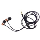 JBMMJ 3.5mm In-Ear Earphones w/ Mic for IPHONE, Samsung, Nokia - Coffe