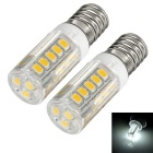 exLED E14 3.5W LED Bulb White Light 6500K 350lm 30-SMD 2835 Ceramic - White + Yellow (2pcs)