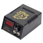 D100 High Stability Power Supply w/ LCD Display for All Kinds of Tattoo Machines - Black