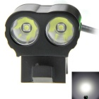 XP-G2 R5 2-LED 900lm 5-Mode White Bike Light / Bicycle Lamp - Black + Green